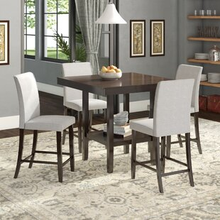 Keefe 5 Piece Solid Wood Dining Set