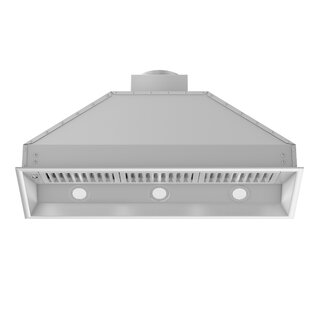 Remote Blower 400 CFM Ducted Insert Wood Range Hood
