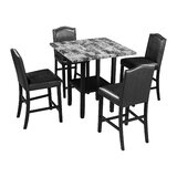 Ayal 5 - Piece Counter Height Dining Set by Red Barrel Studio®
