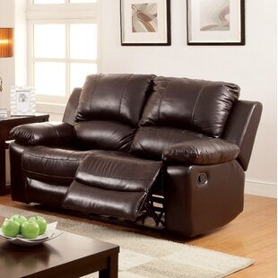 Luria Leather Reclining Loveseat Hokku Designs