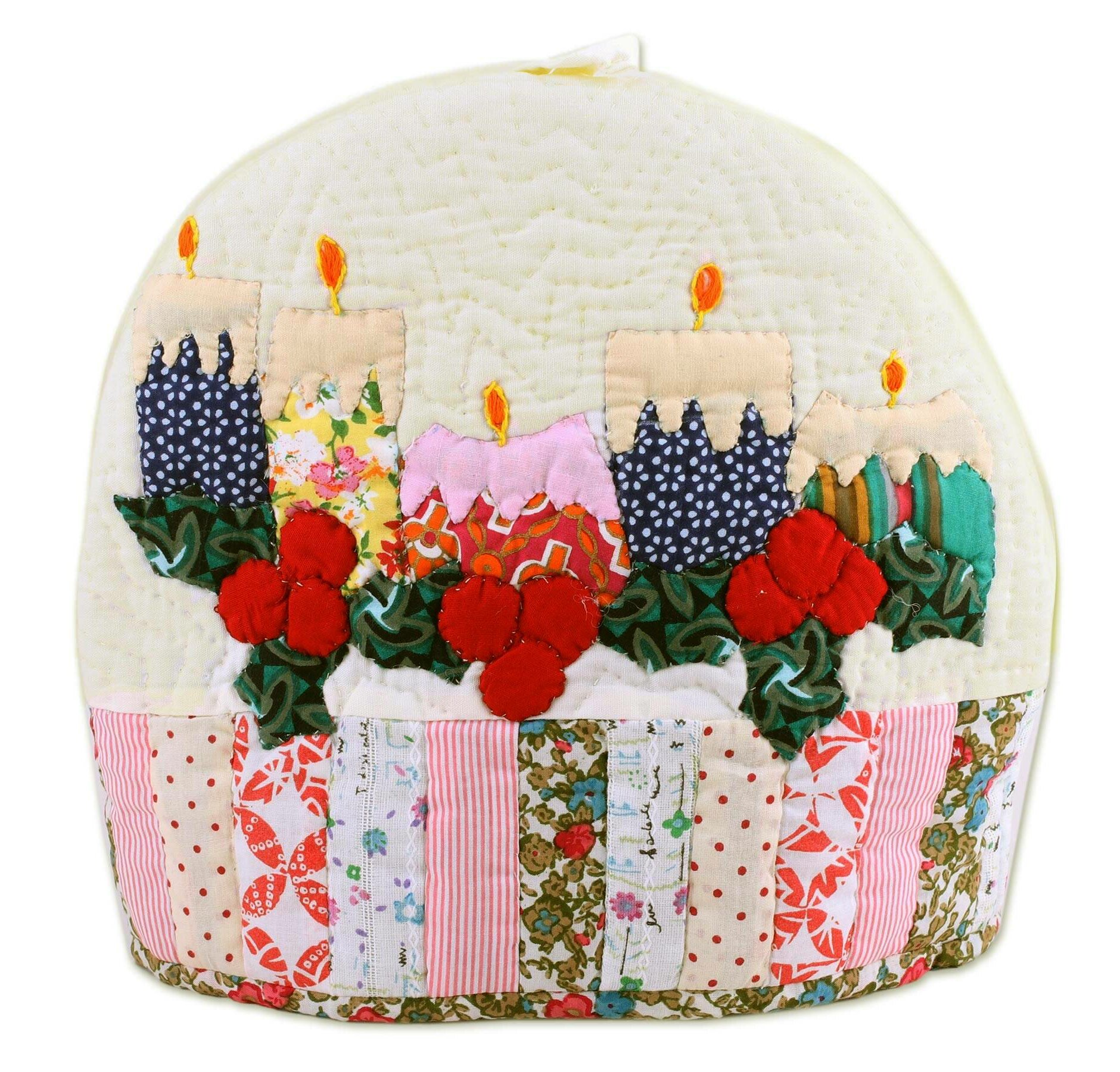 The Holiday Aisle Lale Holiday Candles Quilted Cotton Tea Cozy Wayfair