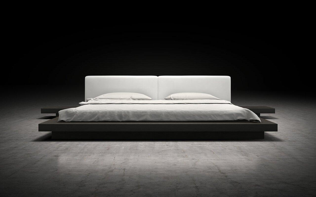 worth upholstered platform bed  reviews  allmodern - defaultname