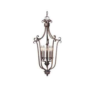 Fleur De Lis Living Brosnan 5-Light Foyer Pendant