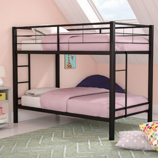 Kline Classic Twin over Twin Bunk Bed with Dual Ladder