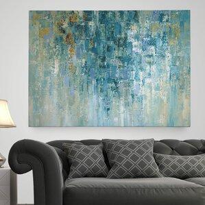 u0027i love the rainu0027 painting print on wrapped canvas u0027