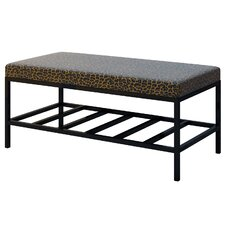 Ahumada Leopard Upholstered Storage Bedroom Bench by Everly Quinn