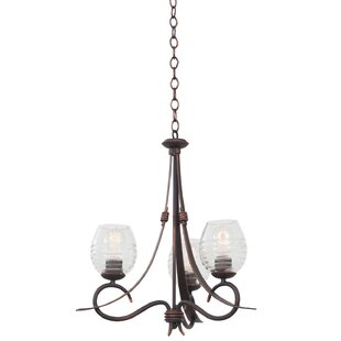 Kalco Seabrook 3-Light Shaded Chandelier