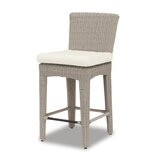 Manhattan 26 Patio Bar Stool with Cushion by Sunset West