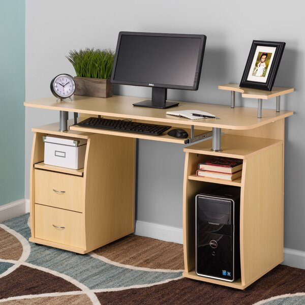 Fineboard Keyboard Tray And CPU Storage Computer Desk U0026 Reviews | Wayfair