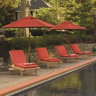 Longshore Tides Burrier Chaise Lounge with Cushion (Set of 4)