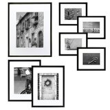 7 Piece Drexil Wood Matted Picture Frame Set