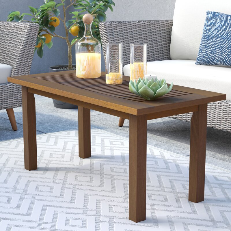 George Oliver Arianna Teak Coffee Table & Reviews ...
