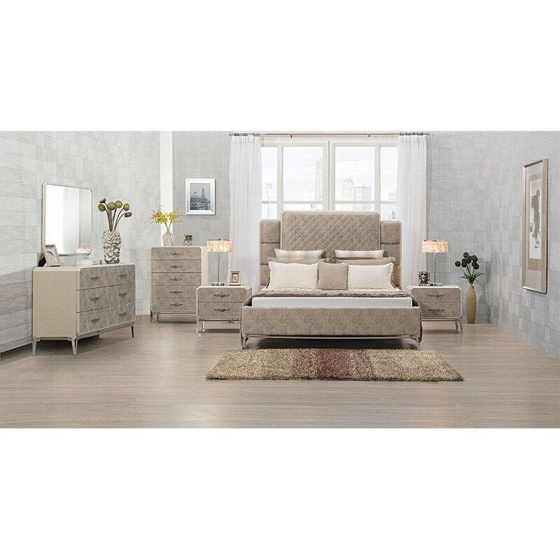 Everly Quinn Mcmillian Upholstered Platform Configurable Bedroom Set Wayfair