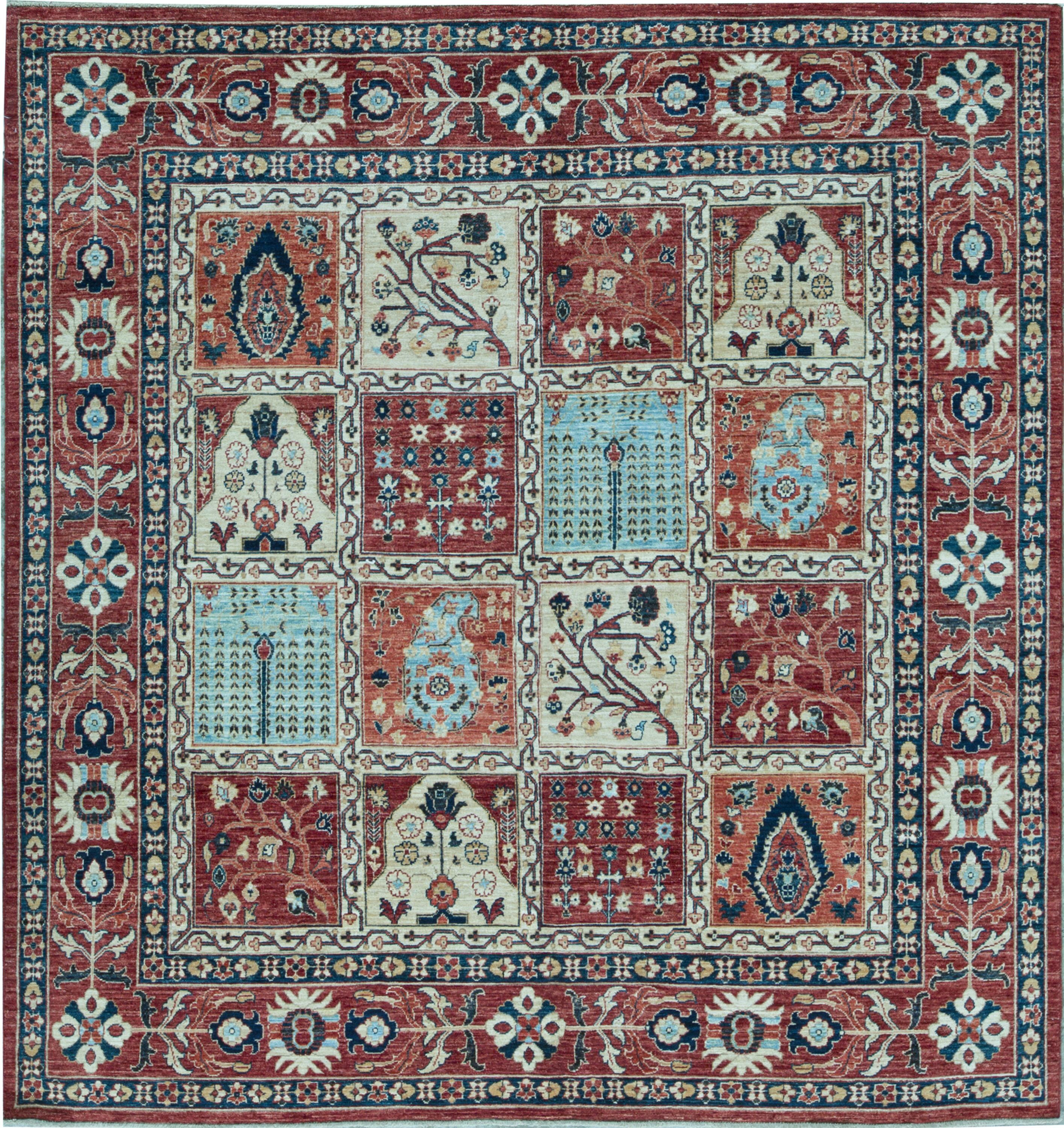 Bokara Rug Co Inc Square Aryana Oriental Hand Knotted Wool Red Area Rug Perigold