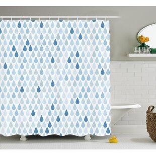 Rain Drops Motive Decor Single Shower Curtain by East Urban Home