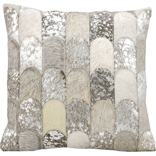 Cinderford Natural Leather Throw Pillow