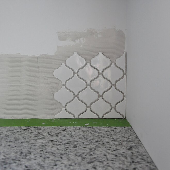 Kitchen Backsplash Corner