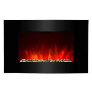 Piano Black Wall Mounted Electric Fireplace by AKDY