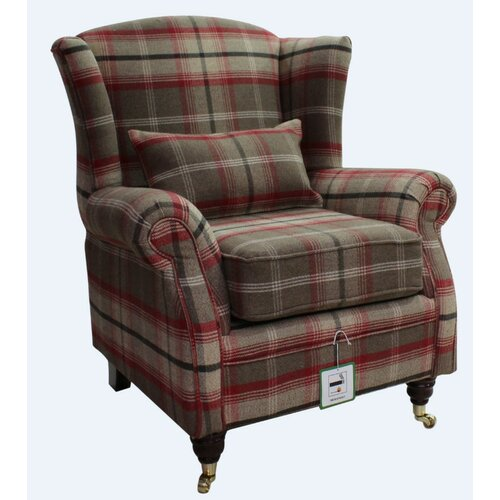 Barbara Wingback Chair Union Rustic Upholstery: Rosso