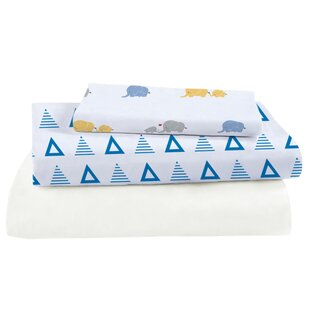 Affordable 3 Piece Viscose Rayon from Bamboo Triangles Crib Sheet Set ByPure Fiber