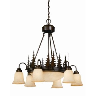 Loon Peak Jennings 9-Light Shaded Chandelier