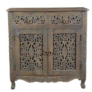 Bungalow Rose Aveliss 2 Drawer 2Door Accent Cabinet
