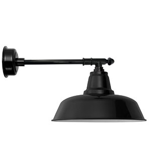 Apremont LED 1-Light Outdoor Barn Light with Victorian Arm