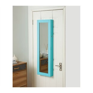Affordable Ahern Over The Door Jewelry Armoire with Mirror By Ebern Designs