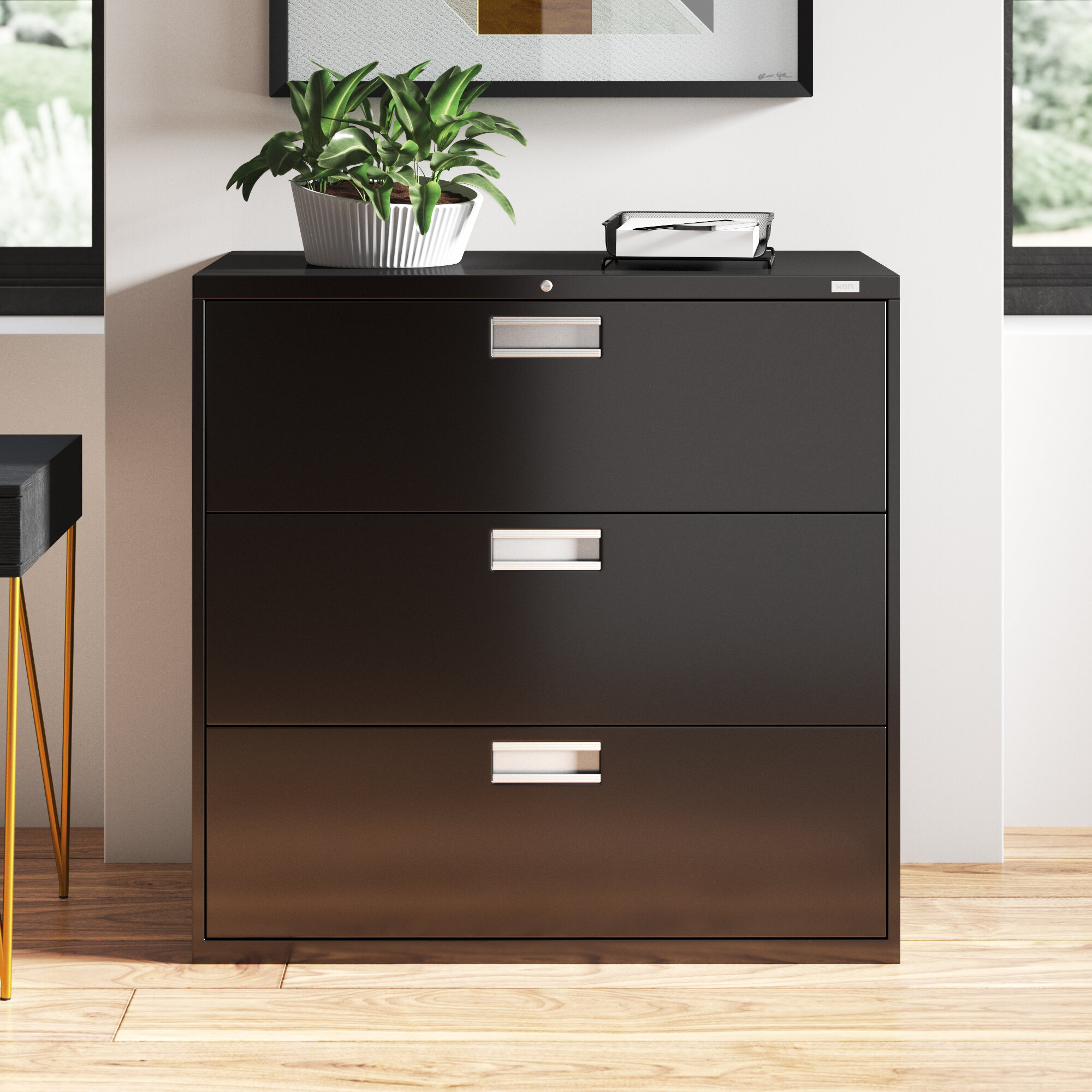 Picture of: Hon 600 Series 42 W 3 Drawer Lateral Filing Cabinet Wayfair