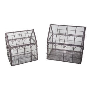 Levi 1 Ft W X 1 Ft D Mini Greenhouse (Set Of 2) By Lily Manor