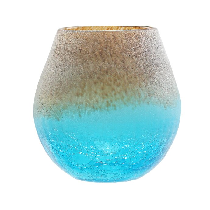 Northlight Frosted Hand Blown Glass Vase Reviews Wayfair