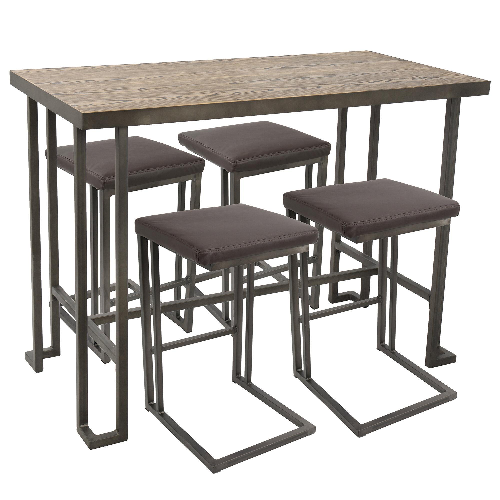 Groovy Calistoga 5 Piece Counter Height Pub Table Set Machost Co Dining Chair Design Ideas Machostcouk
