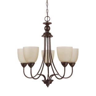 Darby Home Co Weatherly 5-Light Shaded Chandelier