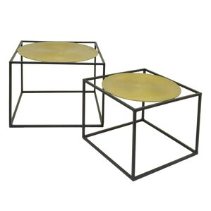 Metal 2 Piece Nesting Tables by Three Hands ..