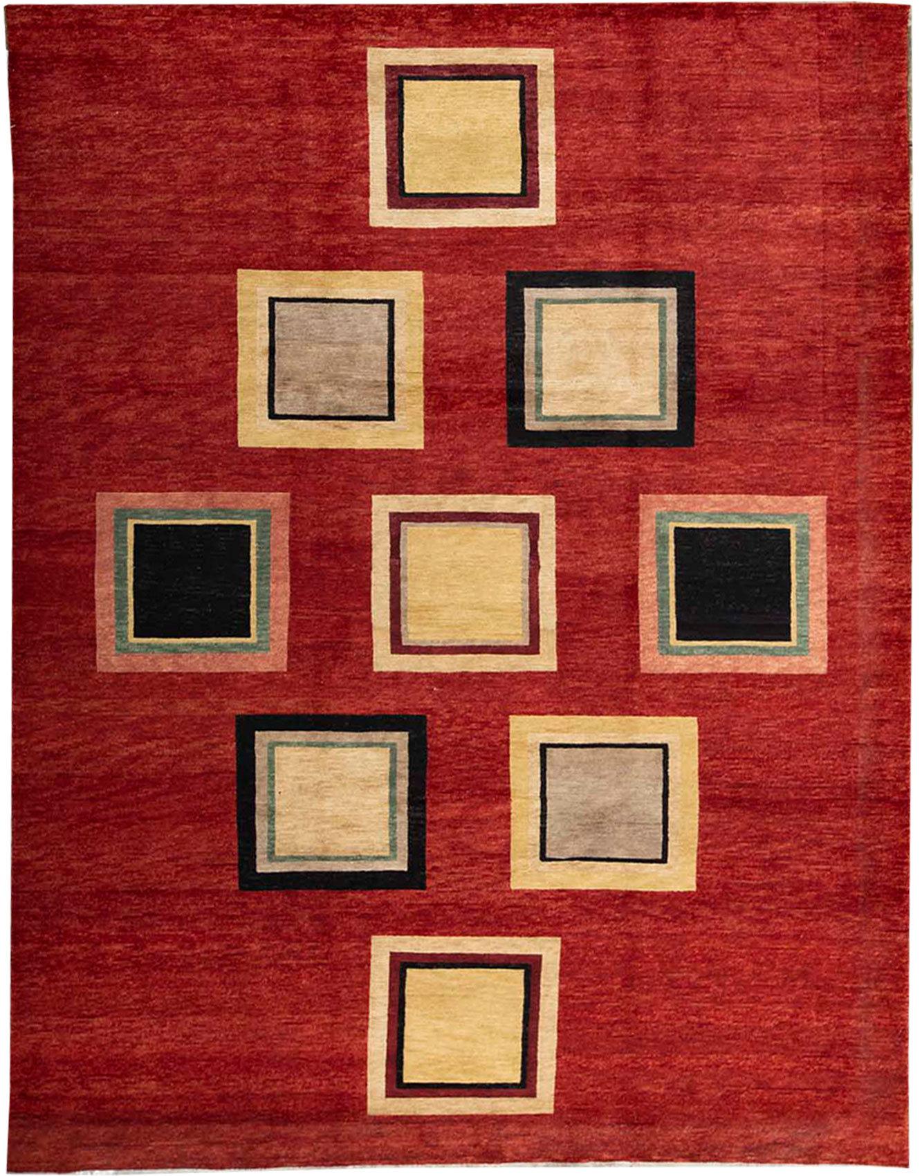 Bokara Rug Co Inc Himalayan Geometric Hand Knotted Wool Red Area Rug Wayfair