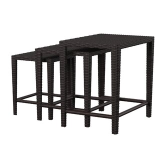 Arruda 3 Piece Wicker Side Table Set