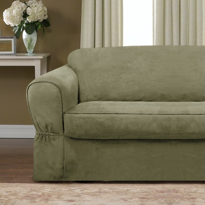 Awesome Bearup Barras Box Cushion Loveseat Slipcover Squirreltailoven Fun Painted Chair Ideas Images Squirreltailovenorg