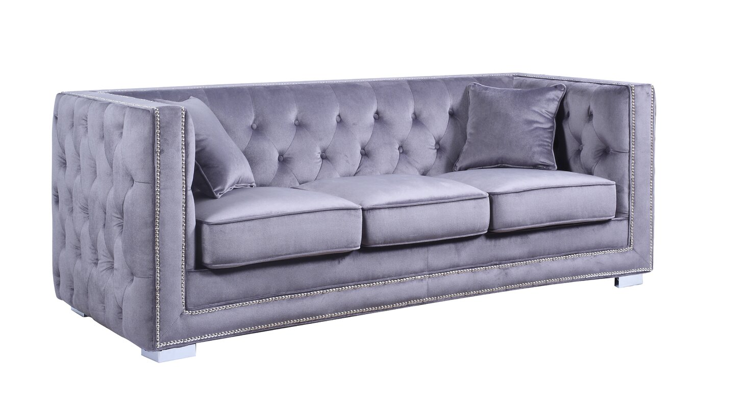 Chesterfield sofa modern  Rosdorf Park Rubio Modern Tufted Chesterfield Sofa & Reviews | Wayfair