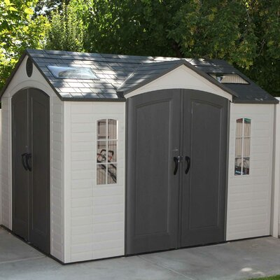 Delicieux D Metal Storage Shed 9 Ft 8 In W X 7 Ft 8 In D Metal