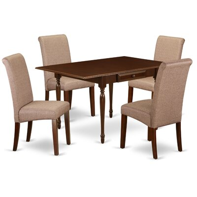 Ophelia Co Aquinnah Drop Leaf Solid Wood Dining Set Ophelia Co Pieces In Set 5 Pieces Table Color Mahogany Chair Color Brown From Wayfair North America Daily Mail