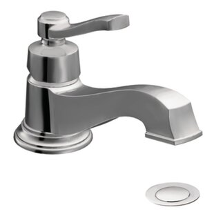 Moen Rothbury Single Hole Low Arc Bathroom Faucet with Drain