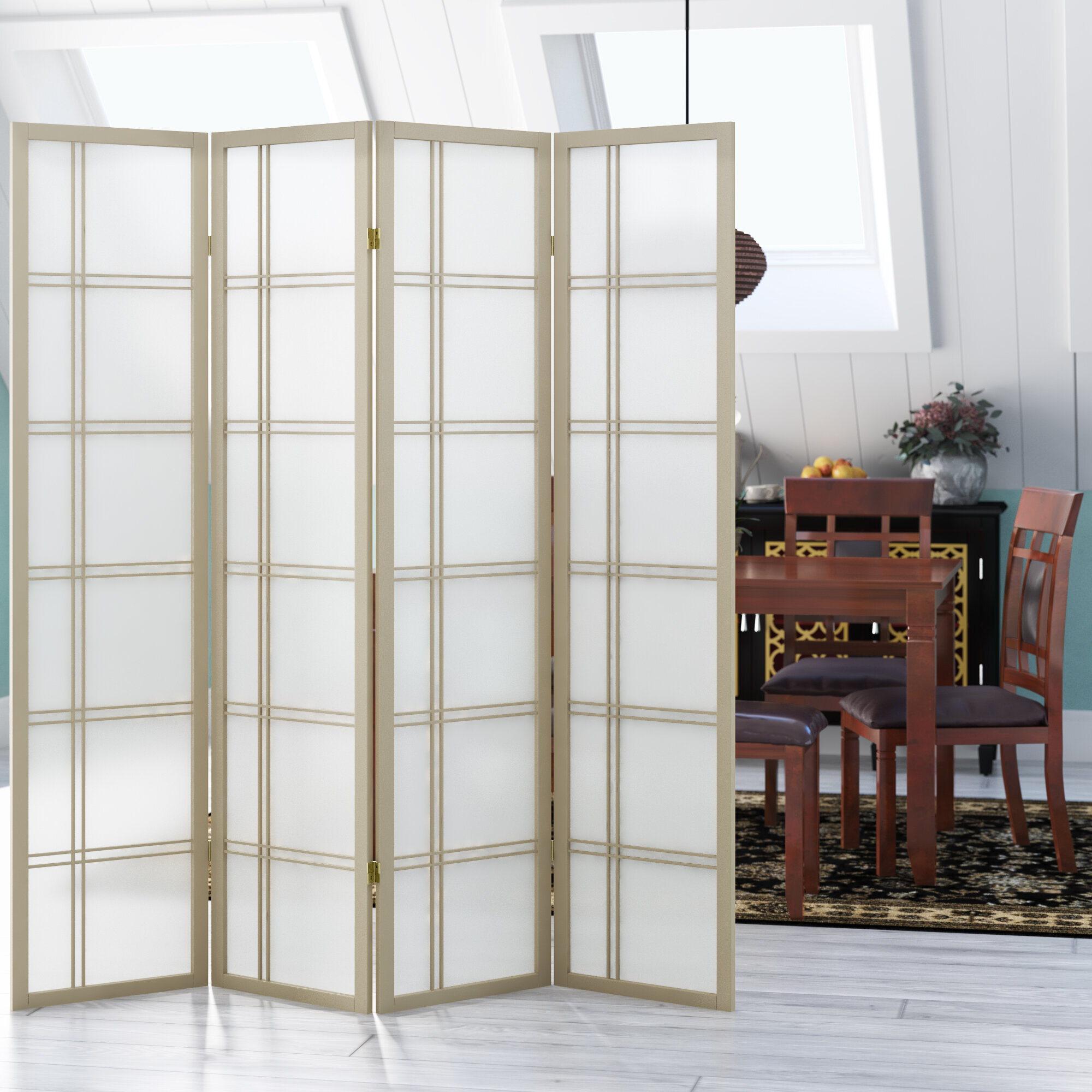 Winston Porter Keitez 69 W X 70 H Solid Wood Folding Room Divider Reviews Wayfair