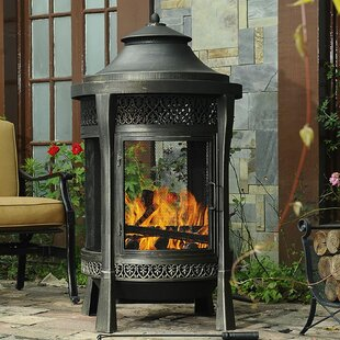 Sunjoy Moira Cast Iron/Aluminum Wood Burn..