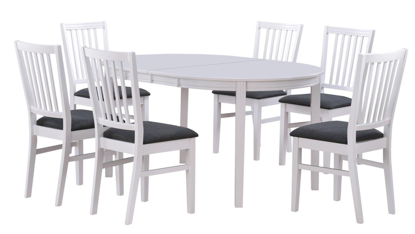 werkstadt essgruppe wittsk r mit ausziehbarem tisch und 6 st hlen bewertungen. Black Bedroom Furniture Sets. Home Design Ideas