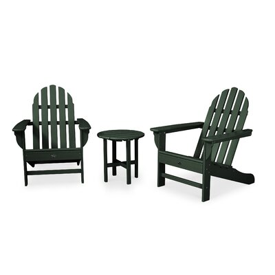 Trex Outdoor Cape Cod 3 Piece Seating Group Frame Finish: Rainforest Canopy