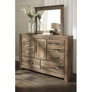 Petersfield 6 Drawer Combo Dresser with Mirror