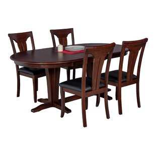 Darby Home Co Doretha 5 Piece Dining Set with Curved Back Chair
