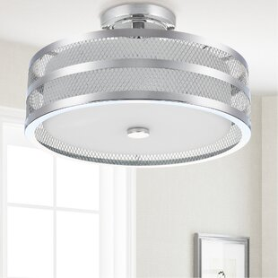 Jeanelle 3-Light Semi Flush Mount by Williston Forge