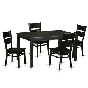 Dudley 5 Piece Dining Set Wooden Importers
