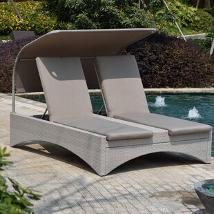 Aalin Patio Reclining Chaise Lounge with Cushion